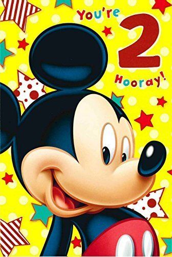 mickey mouse 2nd birthday card ; s-l640