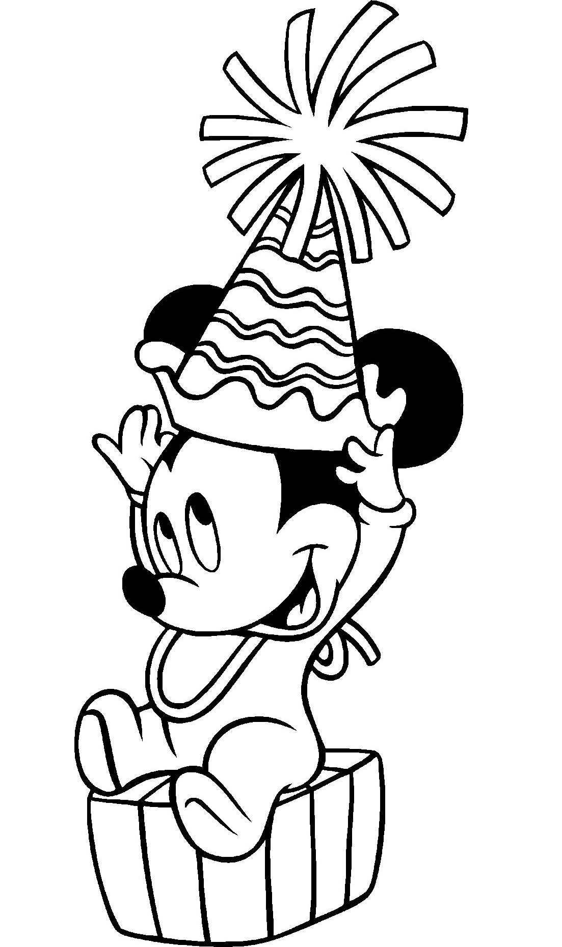 mickey mouse birthday printable coloring pages ; Mickey-Mouse-Coloring-Pages-Printable