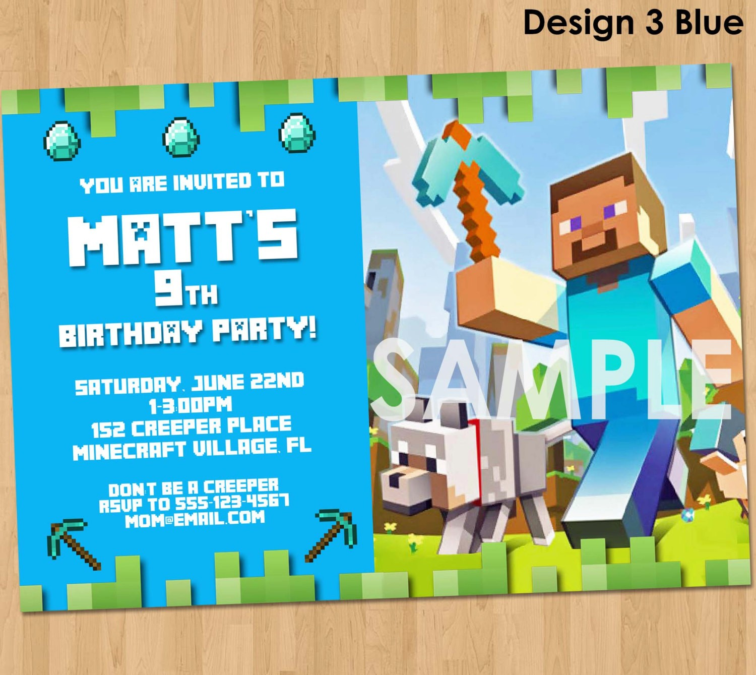 minecraft birthday background ; 2014%2520party%2520favors%2520-%2520minecraft%2520invitation%2520%2520minecraft%2520birthday-f49512