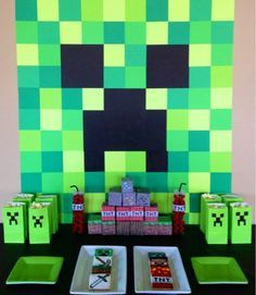 minecraft birthday background ; 826a60c08a8e01d5b19fa559344454f2
