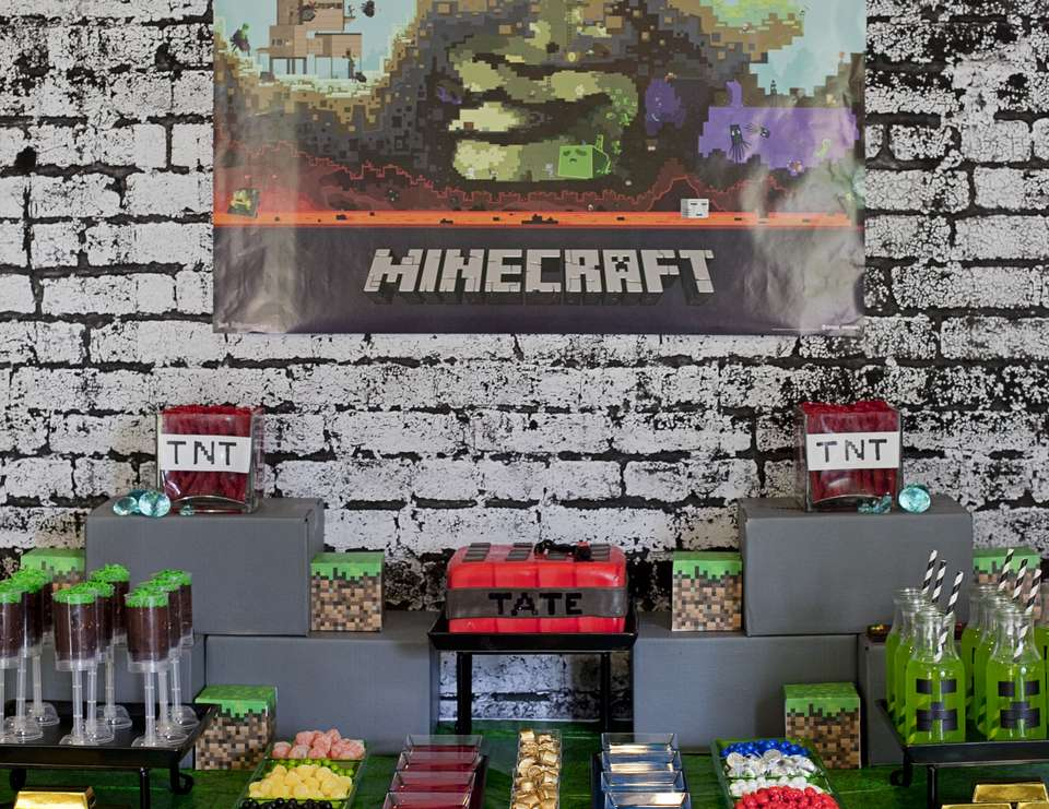 minecraft birthday background ; img_6672