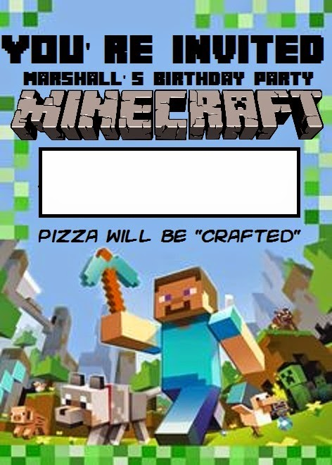 minecraft birthday background ; marshall%252Bminecraft%252Binvite