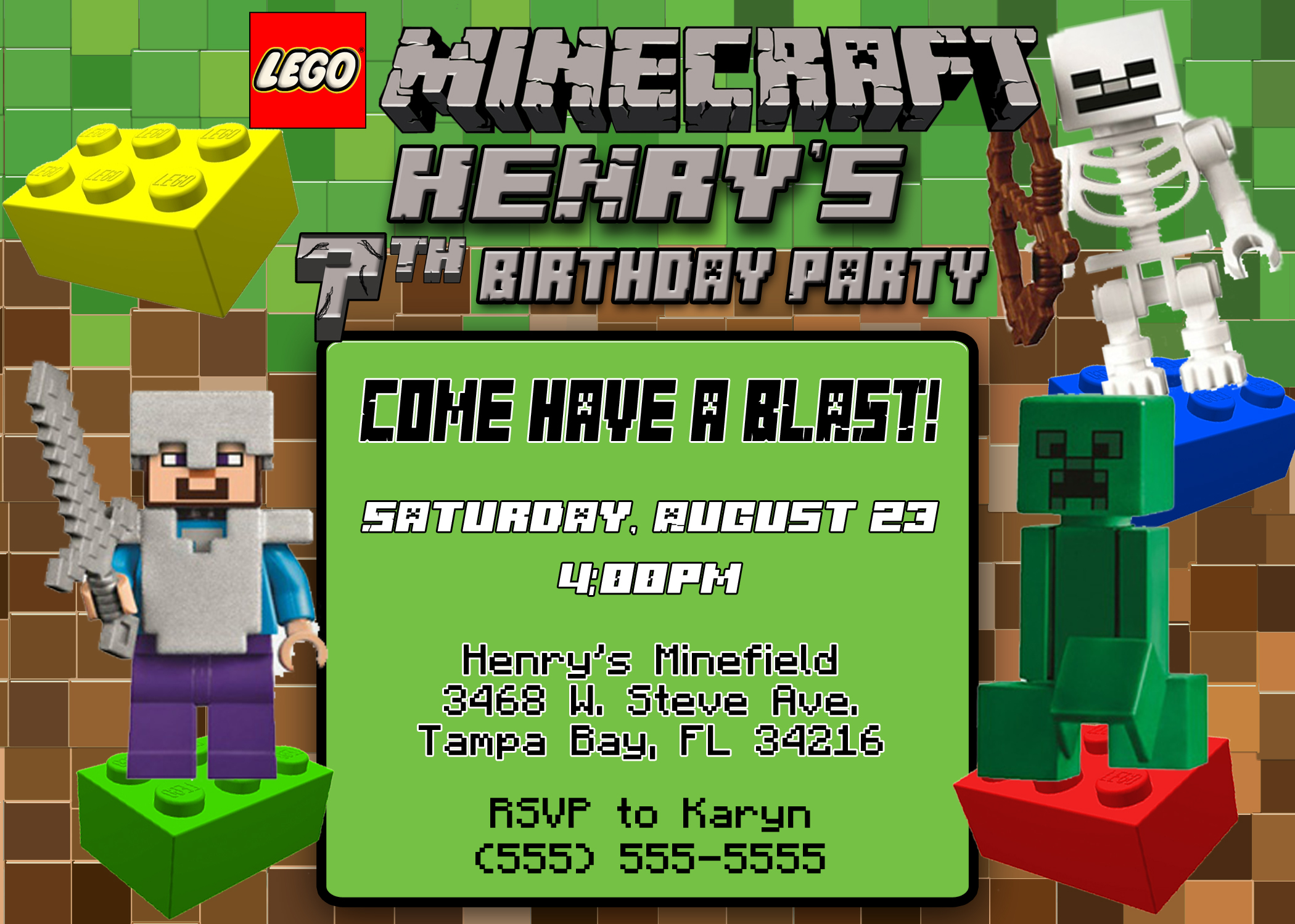 minecraft birthday background ; minecraft-birthday-invitation-by-means-of-creating-fantastic-outlooks-around-your-Birthday-Invitation-Templates-17