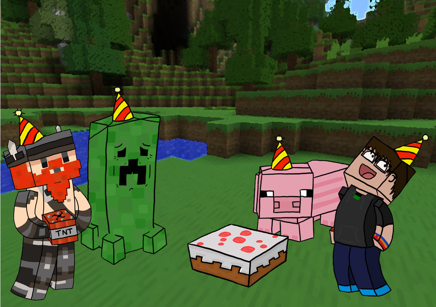 minecraft birthday background ; minecraft_1