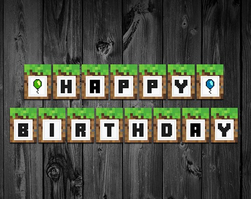 minecraft birthday background ; minecraft_birthday_banner_minecraft_party_printable_3c732056_171825