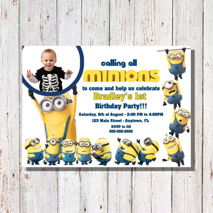 minions 1st birthday invitation templates ; minion-birthday-invitations-for-the-invitations-design-of-your-inspiration-Baby-Shower-Invitation-Templates-party-15