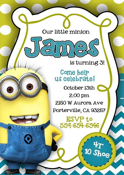 minions 1st birthday invitation templates ; minion-birthday-party-invitations-by-means-of-creating-decorative-outlooks-around-your-Birthday-Invitation-Templates-11