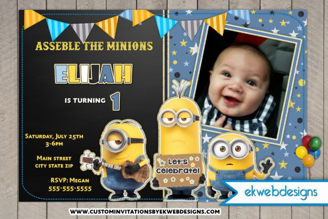 minions 1st birthday invitation templates ; personalized-minion-birthday-invitations-together-with-a-picturesque-view-of-your-Birthday-Invitation-Templates-using-awesome-invitations-3