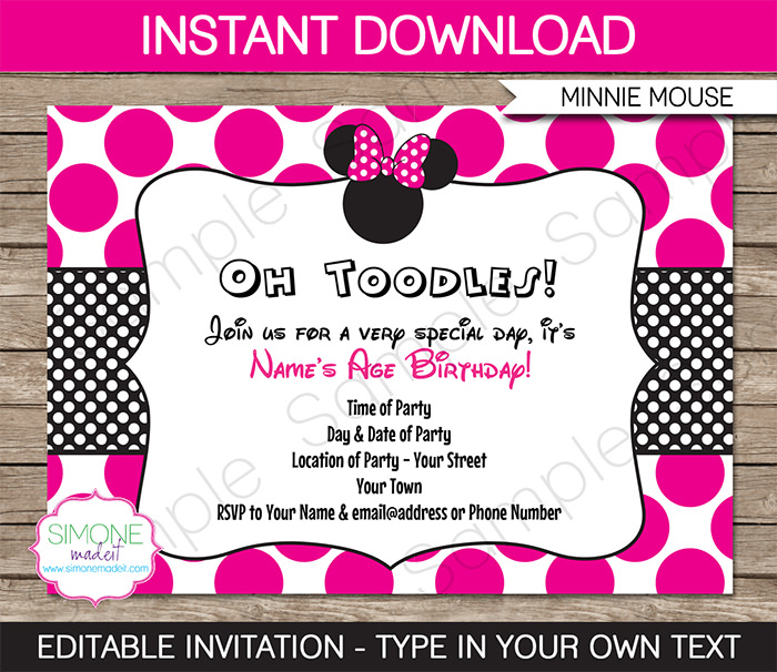minnie birthday invitation wording ; Cozy-Minnie-Mouse-Party-Invitations-Which-You-Need-To-Make-Free-Party-Invitations