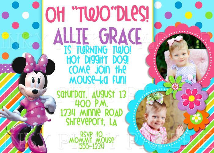 minnie mouse 2nd birthday party invitation wording ; 6407d18839a58aca85061f99f5212c35--nd-birthday-invitations-birthday-party-ideas