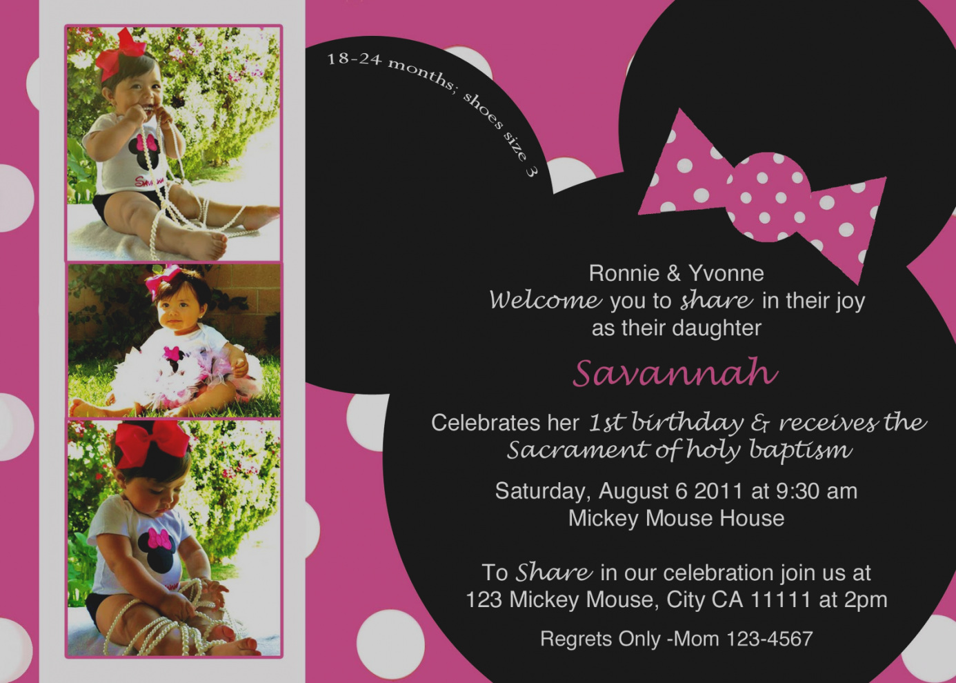 minnie mouse 2nd birthday party invitation wording ; elegant-minnie-mouse-birthday-invitation-wording-free-invitations-templates-invitetown-emys-2nd