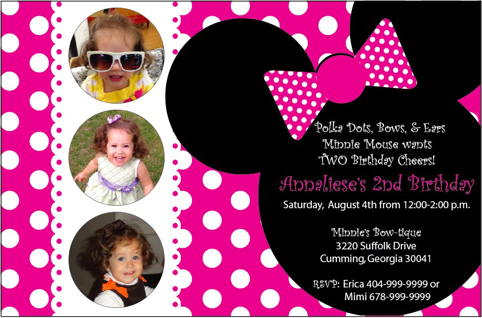 minnie mouse 2nd birthday party invitation wording ; minnie-mouse-birthday-invitations-uk
