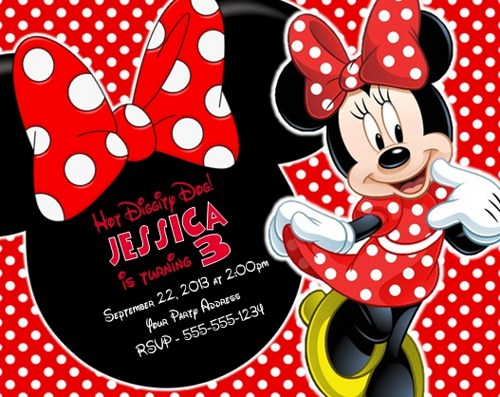 minnie mouse birthday invitations personalized photo ; minnie-mouse-birthday-party-invitations-personalized-custom-red-minnie-mouse-birthday-invitations