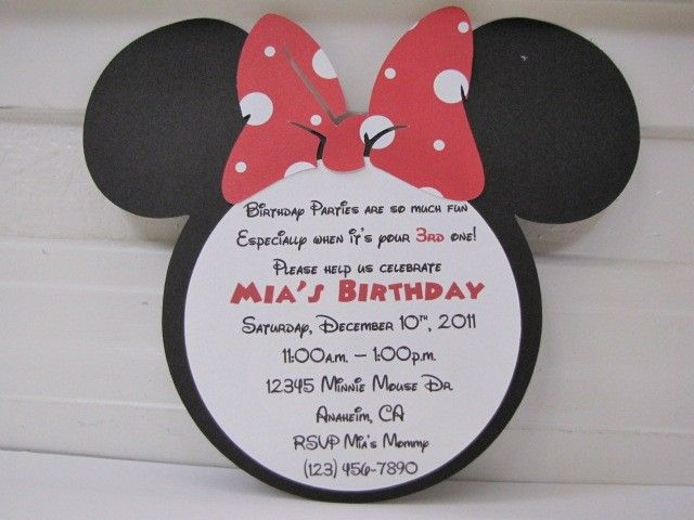 minnie mouse wording for birthday invitation ; 1251e636d07792cf33d9148c3b3ed048