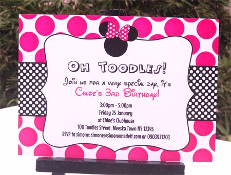 minnie mouse wording for birthday invitation ; 1a7cb9b3463768cf1f70389c1263aca4