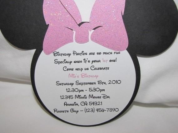 minnie mouse wording for birthday invitation ; 68cf9cd37ea3f1752574ff3e2a05c829