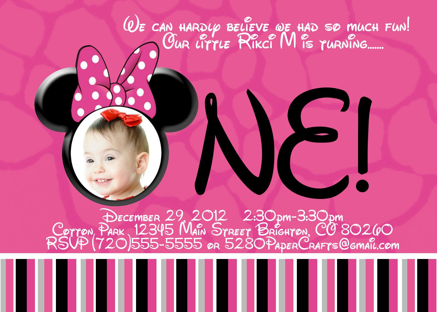 minnie mouse wording for birthday invitation ; 860c8ddc5d72c962a6947387c3e1eae6
