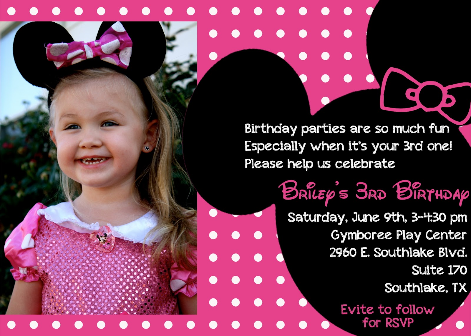 minnie mouse wording for birthday invitation ; Minnie+Invite_edited-2