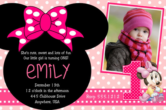 minnie mouse wording for birthday invitation ; Minnie-Mouse-2nd-Birthday-Party-Invitation-Wording