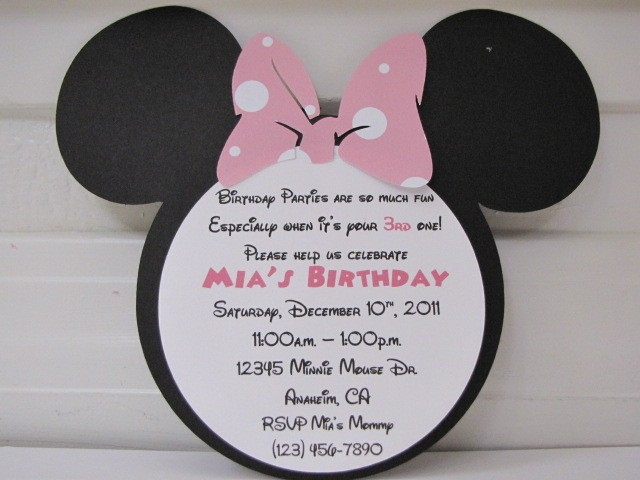 minnie mouse wording for birthday invitation ; extraordinary-birthday-invitation-wording-minnie-mouse-4-unique-invitation