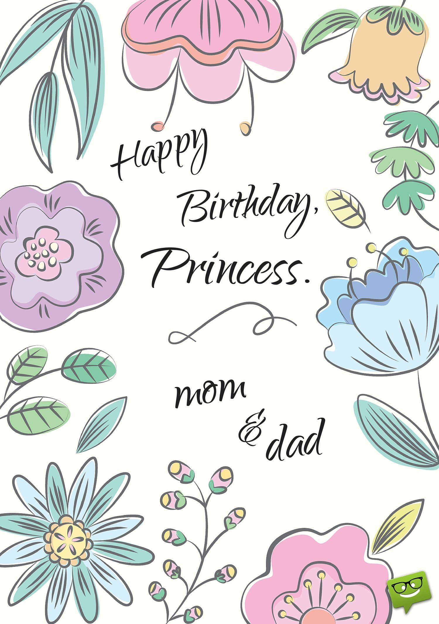 mother wish to her daughter birthday ; Happy-Birthday-princess