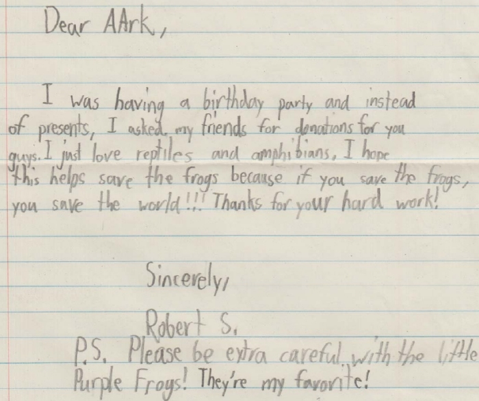 my birthday invitation to friends ; Robert-letter