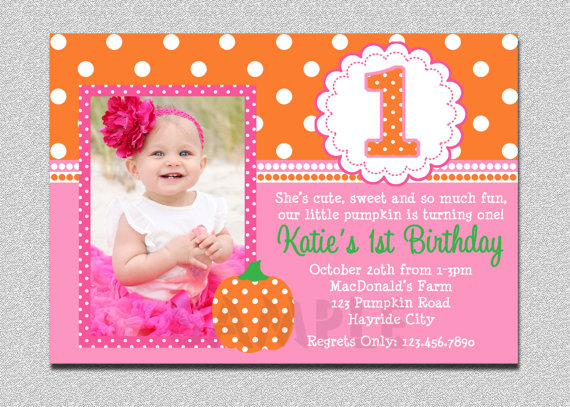 my daughter birthday invitation message ; baby-girl-first