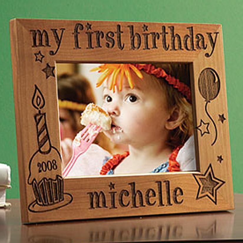 my first birthday picture frame ; 48c4ef56b18576d68a3cd409c206ece2