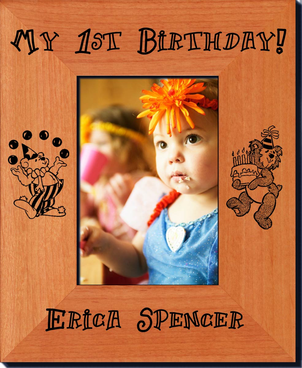 my first birthday picture frame ; first-birthday-frames