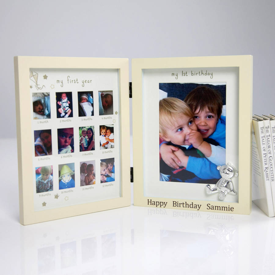 my first birthday picture frame ; original_personalised-my-first-year-frame