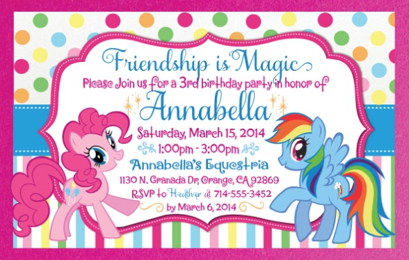 my little pony birthday invitation template free ; my-little-pony-party-invitations-for-the-invitations-design-of-your-inspiration-Party-Invitation-Templates-party-6
