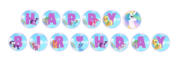 my little pony birthday sign ; 4fb17b9e1c978ddc1a0c35bff6dac737