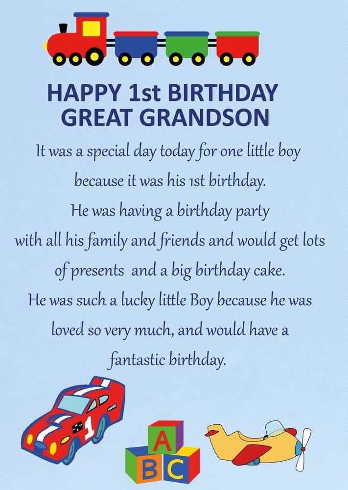 my son first birthday poem ; especially-happy-1st-birthday-grandson