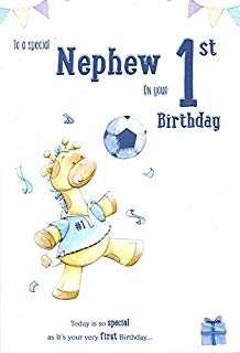 nephew 1st birthday card ; 41LSeTEU43L