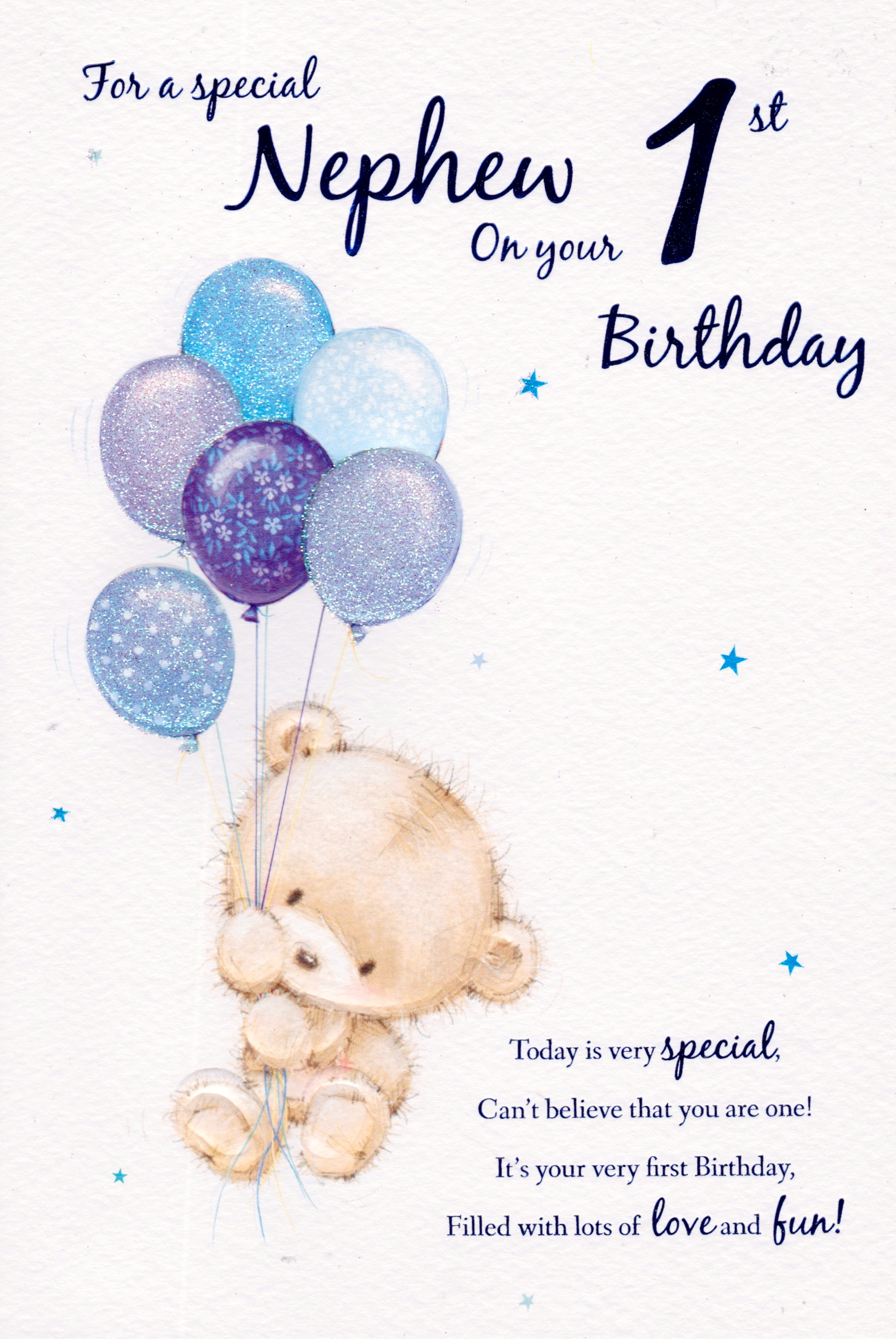 nephew 1st birthday card ; Scan-440
