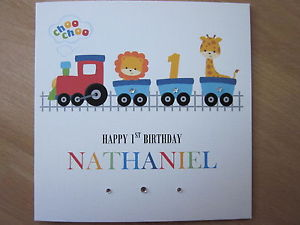 nephew 1st birthday card ; s-l300