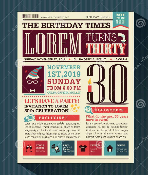 newspaper birthday card template ; Birthday-Card-Newspaper-Template1