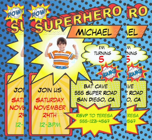 newspaper birthday invitation template free ; Comic-book-Style-Superhero-birthday-invitation-