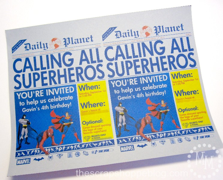 newspaper birthday invitation template free ; superhero+newspaper+birthday+invitation+3