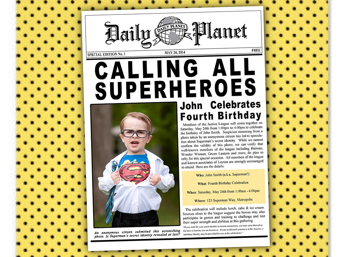 newspaper birthday invitation template free ; superhero-newspaper-birthday-invitations-templates_232706