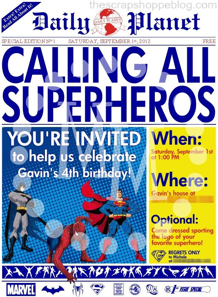 newspaper birthday invitation template free ; superhero-party-invitation-template-is-your-newest-idea-of-artistic-Party-invitation-10
