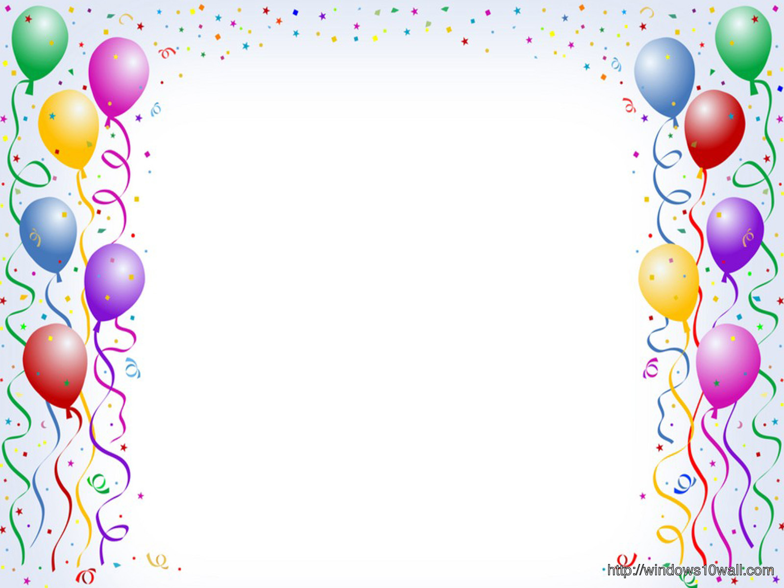 nice birthday background ; Balloon+Birthday+background+1600x1200