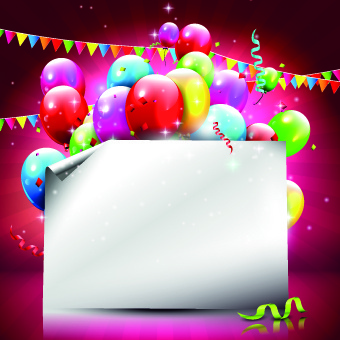 nice birthday background ; beautiful_colorful_balloons_happy_birthday_background_vector_540107
