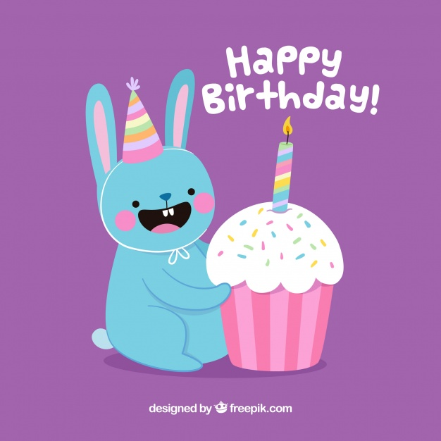 nice birthday background ; nice-birthday-background-with-happy-bunny_23-2147645216