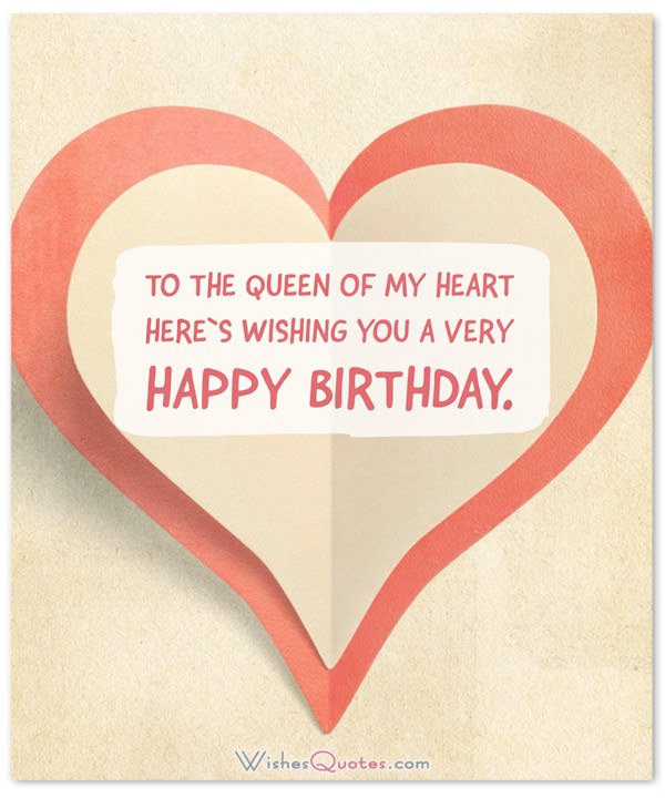 nice birthday message for wife ; queen-of-my-heart-happy-birthday