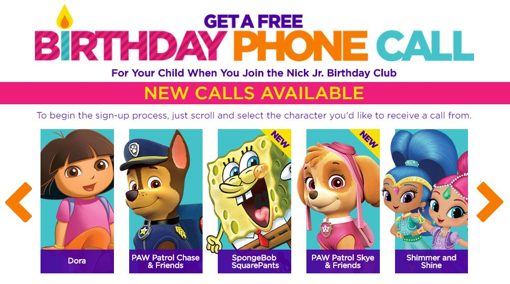 nick jr birthday call sign up ; Screenshot_4-10