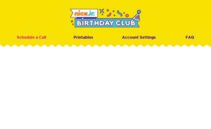 nick jr birthday call sign up ; nickjrbirthdayclub