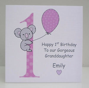 niece first birthday card ; first-birthday-daughter-card-elegant-personalised-girls-1st-birthday-card-daughter-granddaughter-niece-of-first-birthday-daughter-card