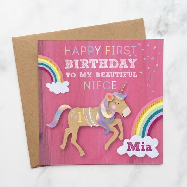 niece first birthday card ; niece-1st-birthday-card-personalised-unicorn-birthday-card-suitable-for-all-ages-oodlique-download