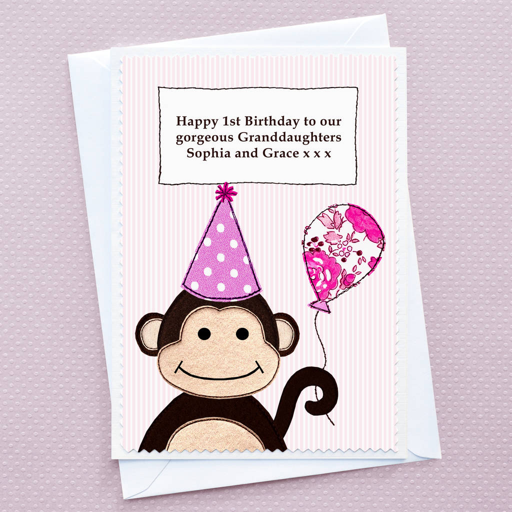 niece first birthday card ; original_slice-of-cake-personalised-girls-first-birthday-card